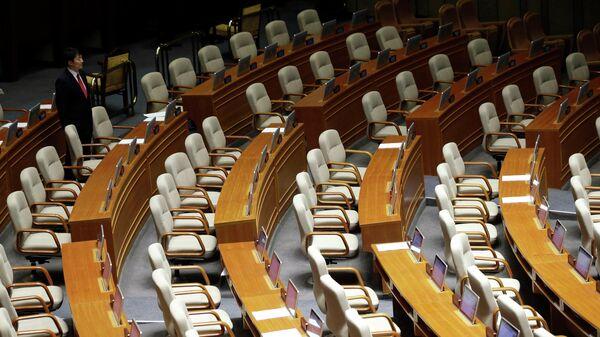 Кресла в здании Национального собрания в Сеуле
