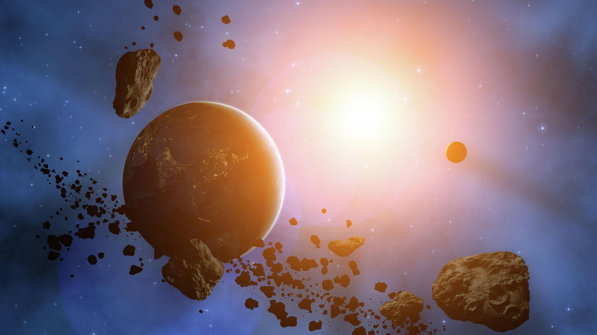Планета окруженная астероидами - РИА Новости, 1920, 23.11.2020