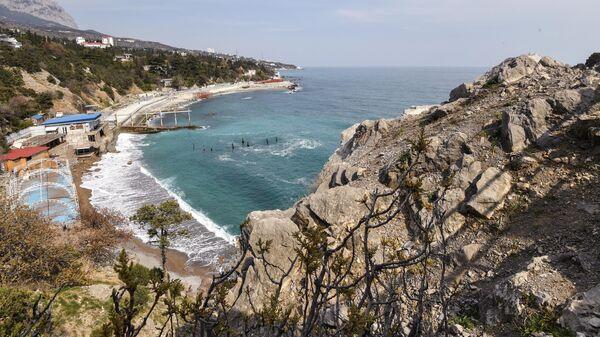Вид на набережную в Симеизе, Крым