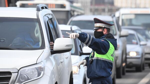 Проверка наличия цифровых пропусков на въезде в Москву