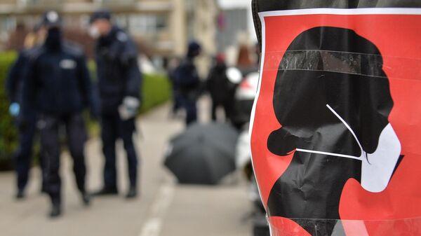 Антиправительственная акция в Варшаве