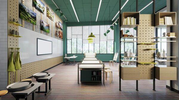 Проект образовательного центра Холст в ЖК Скандинавия