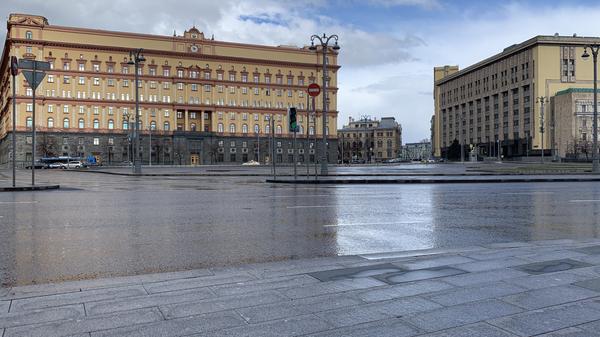 Лубянская площадь и здание органов госбезопасности в Москве