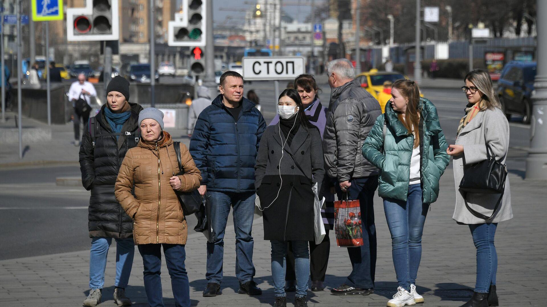 Горожане на одной из улиц в Москве - РИА Новости, 1920, 29.03.2021