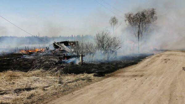 Пожар в Красноярском крае