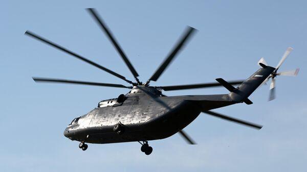 Тяжелый военно-транспортный вертолет Ми-26