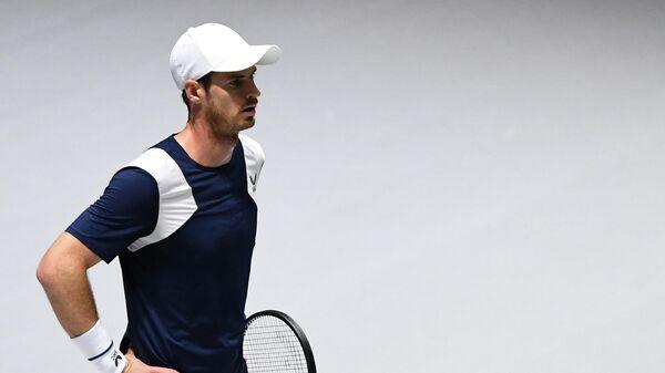 Британский теннисист Энди Маррей на Кубке Дэвиса в Мадриде