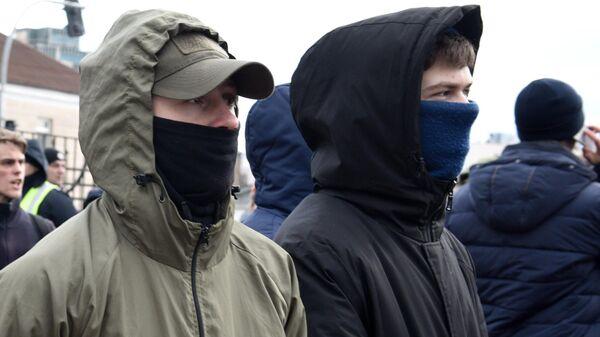 Участники украинской националистической праворадикальной организации С14