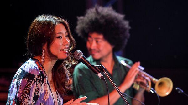 Музыкант Tachibana Quintet (Япония) Нун во время выступления на открытии фестиваля Koktebel Jazz Party.