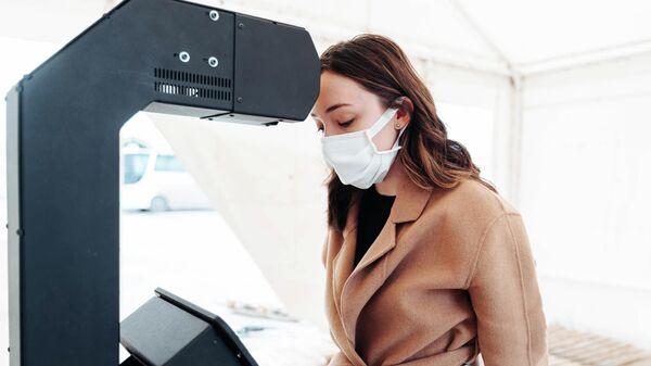 Терминал с технологией бесконтактного измерения температуры тела от Пермской компании Промобот