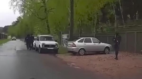 В Сети появилось видео с места задержания бизнесмена Быкова