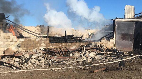 Пожар в одной из деревень Туймазинского района Башкирии
