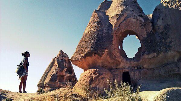 Деревня Учхисар в Турции