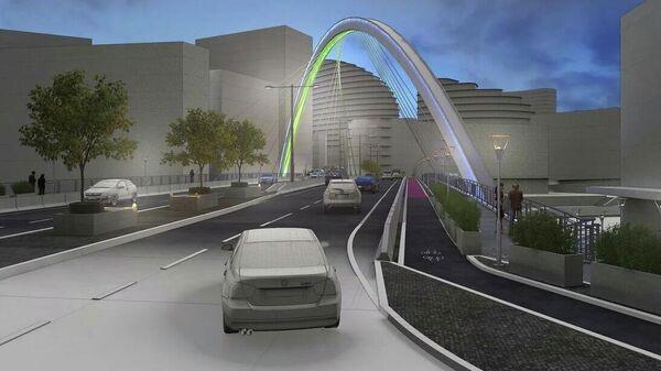 Проект автомобильного моста через залив Москвы-реки в районе Рублево-Архангельское