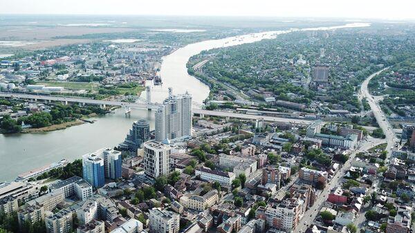 Вид на Ворошиловский мост в Ростове-на-Дону