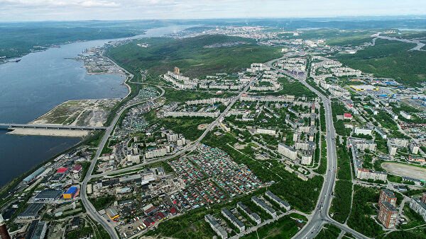 Вид на город Мурманск