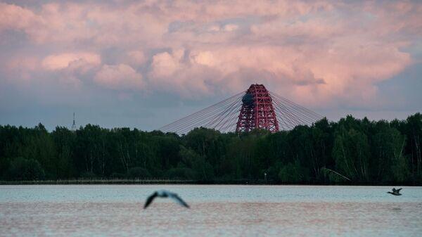 Вид на Живописный мост в Москве