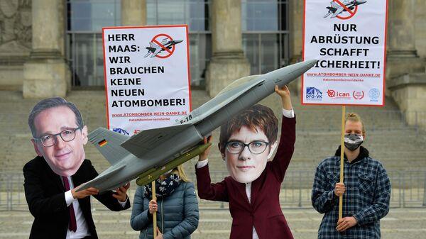 Акция против закупки новых американских истребителей  F-18  в Германии