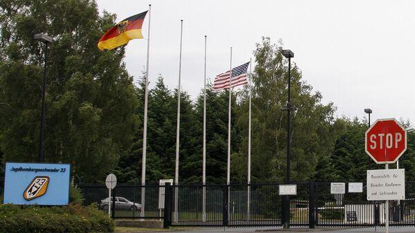 Главный въезд на базу Бюхель в Германии
