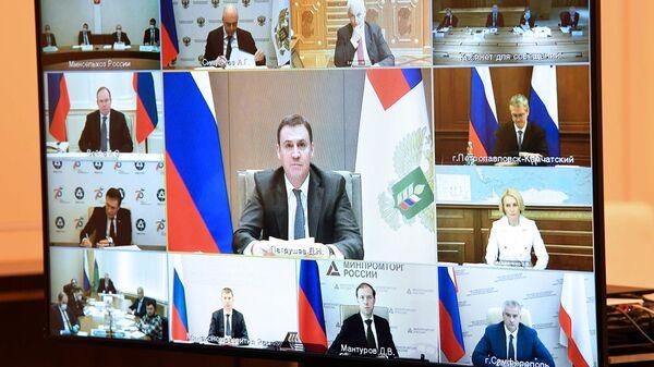 Министр сельского хозяйства РФ Дмитрий Патрушев во время совещания президента РФ Владимира Путина