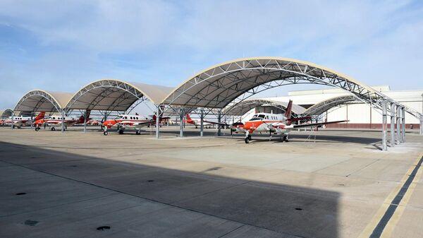 Самолеты на военно-морском аэродроме Корпус Кристи в Техасе