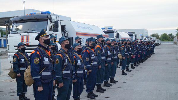 Группировка Волжского спасательного центра МЧС России выдвинулась из Самары для оказания помощи в дезинфекции Республике Дагестан
