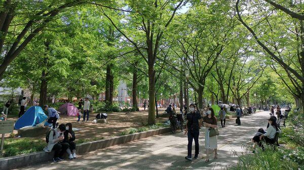 Парк Уцубокоэн в центре Осаки