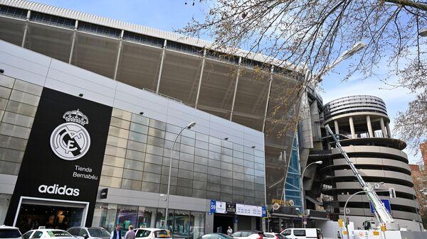 Футбольный стадион Сантьяго Бернабеу в Мадриде