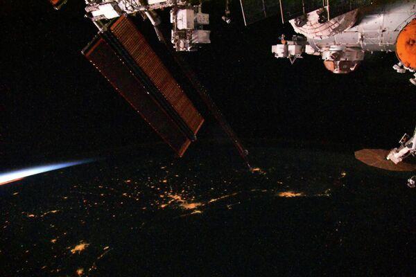 Космические сумерки с борта Международной космической станции