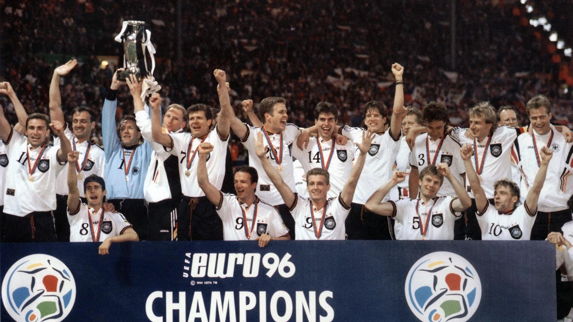 Сборная Германии после победы на ЕВРО-1996 - РИА Новости, 1920, 24.03.2021