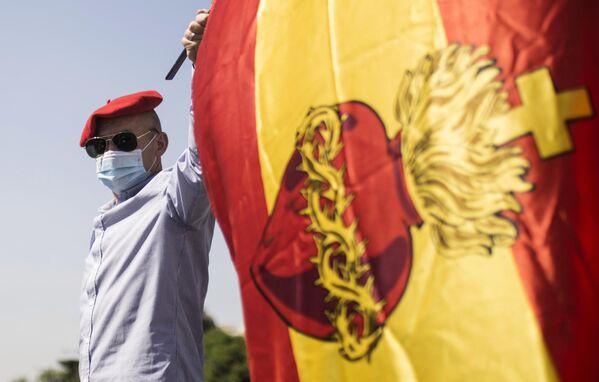 Антиправительственная акция в Мадриде
