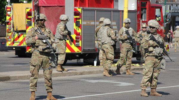 Солдаты Национальной гвардии США в Миннеаполисе