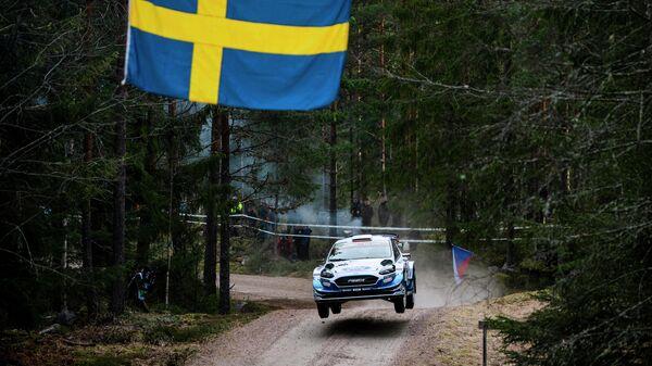 Участник этапа чемпионата мира по классическому ралли (WRC) в Финляндии (Тысяча озер)