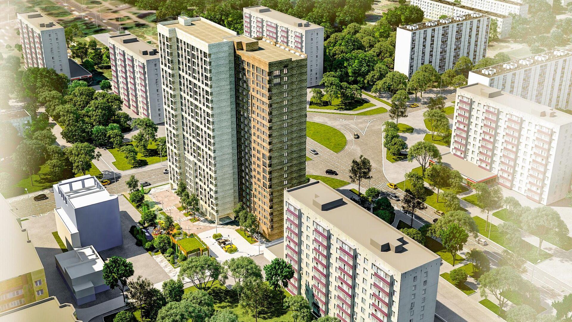 Проект дома по программе реновации на площади Белы Куна в Гольянове - РИА Новости, 1920, 25.02.2021
