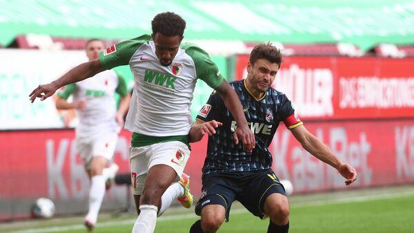 Игровой момент матча Кельн - Аугсбург