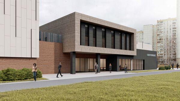 Проект двухэтажного спортивного комплекса с бассейном в Северном Бутово