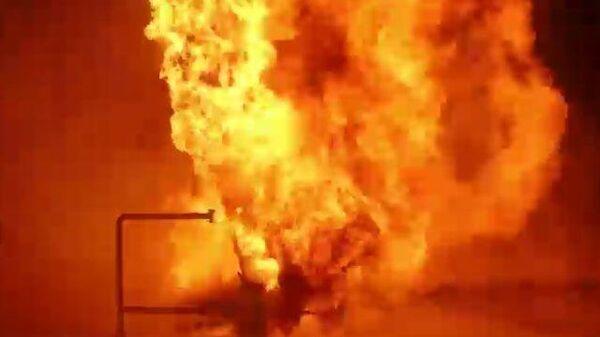 Тушение иркутской нефтяной скважины