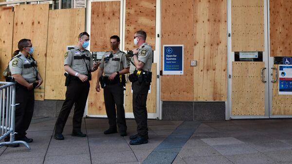 Центр общественной безопасности округа Хеннепин, где по видеосвязи должны допросить полицейского Дерека Авена, обвиняемого в убийстве Джорджа Флойда