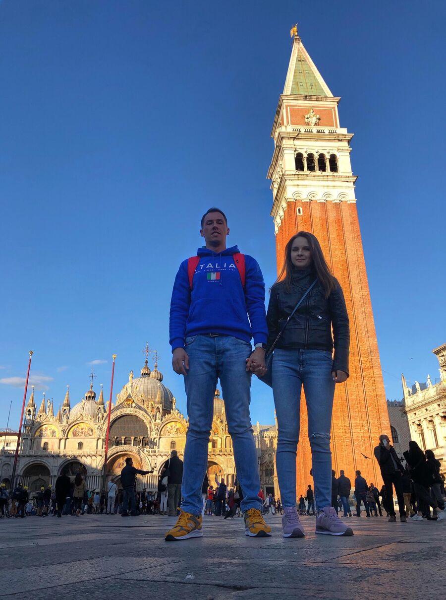 Венеция, с женой Ольгой