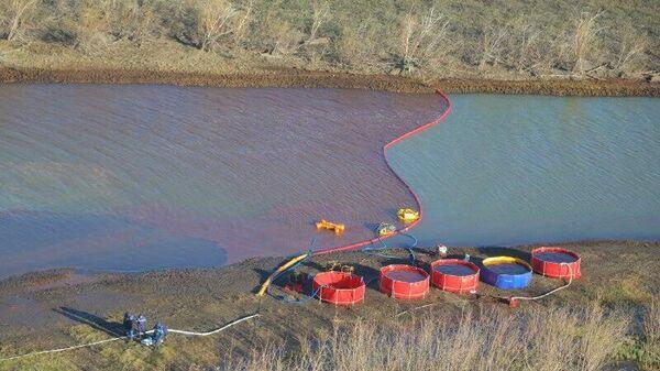 Ликвидация разлива топлива в Норильске