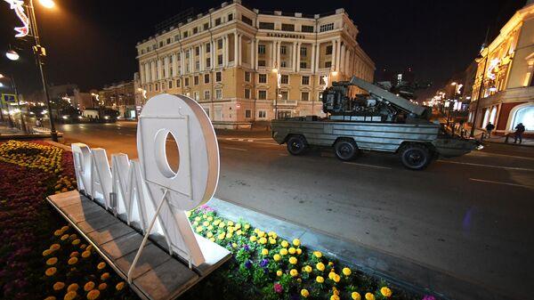 Репетиция военной техники к параду Победы во Владивостоке
