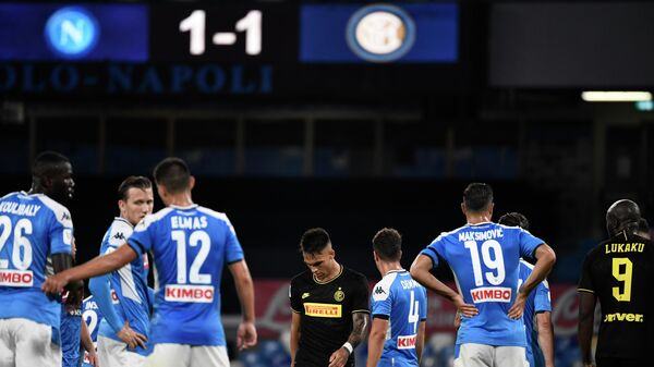Футболисты Наполи и Интера