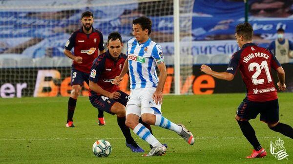 Игровой момент матча Реал Сосьедад - Осасуна