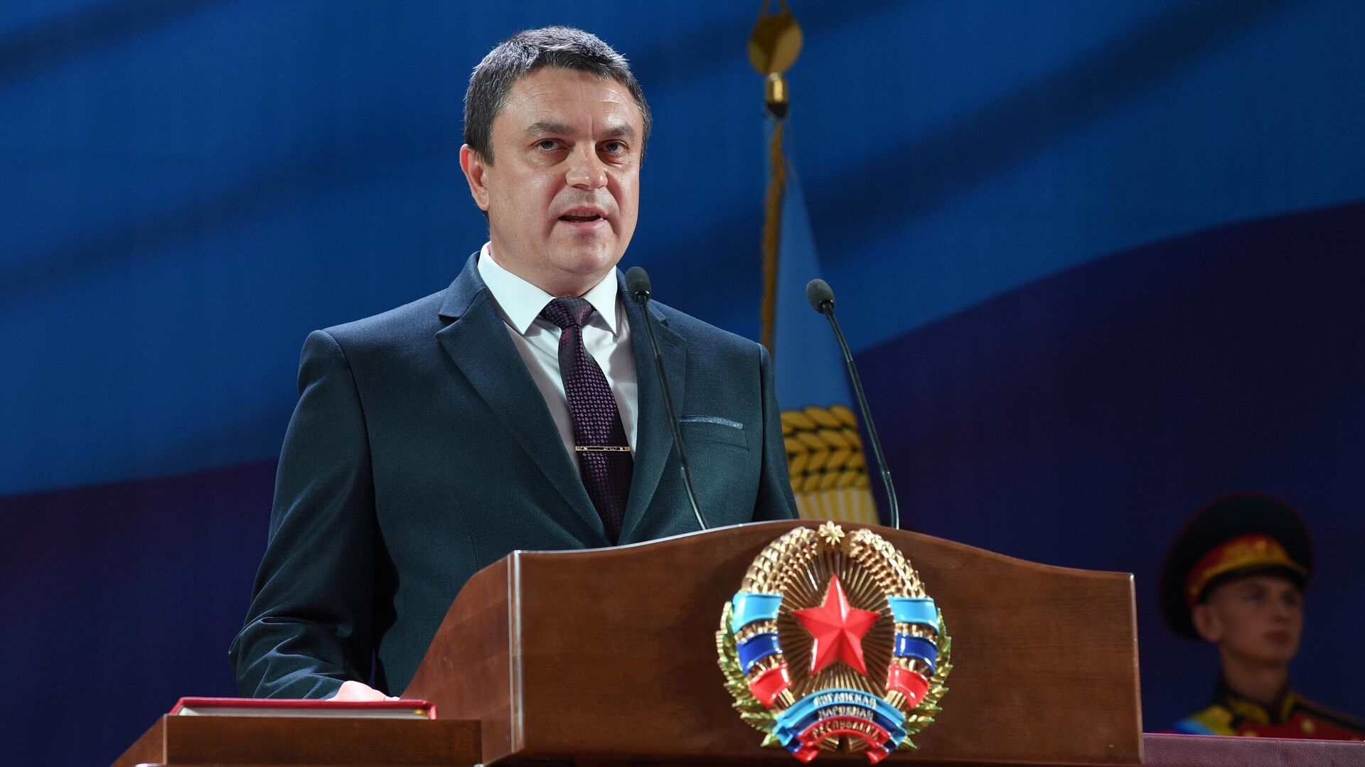 Глава Луганской народной республики Леонид Пасечник - РИА Новости, 1920, 07.05.2021