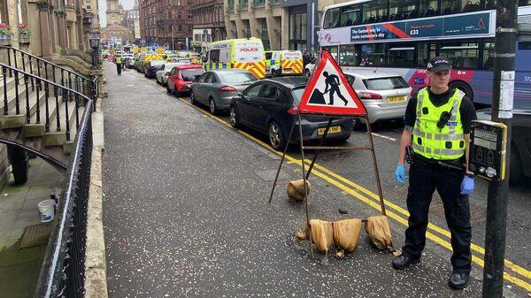 Место инцидента в Глазго