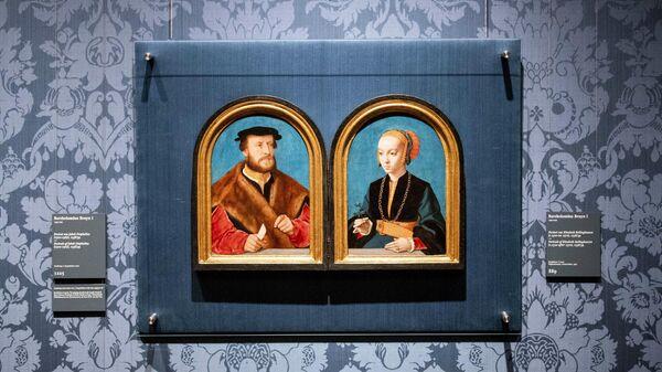 Портреты Якоба Омфалиуса и Элизабет Беллингхаузен, написанные Бартоломеем Брюном в художественном музее Маурицхёйс в Гааге
