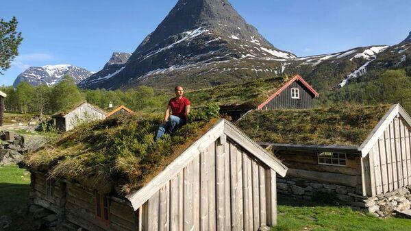 Традиционные травяные крыши в Норвегии
