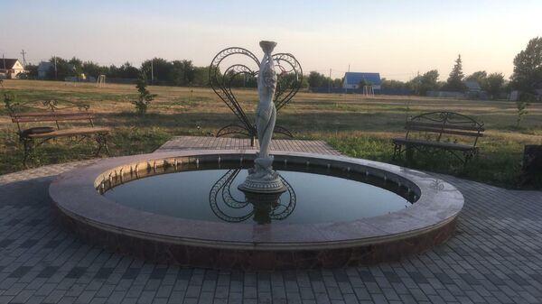 Фонтан, в котором погибла девятилетняя девочка, в станице Березовской Даниловского района Волгоградской области
