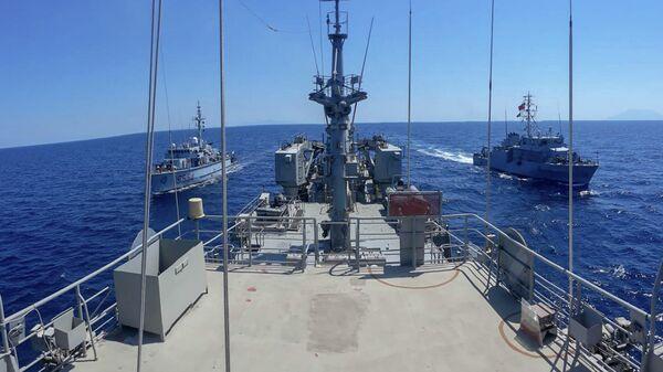 Военные корабли НАТО в Эгейском море