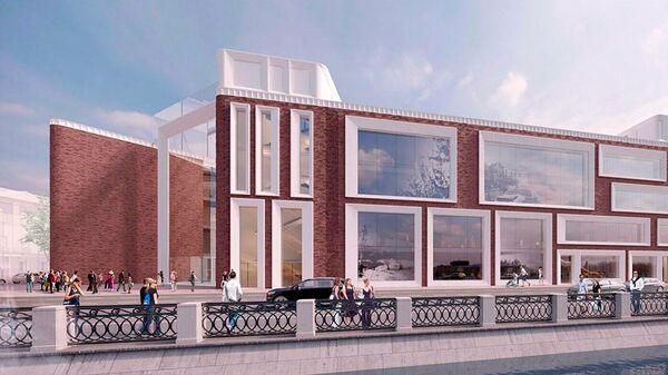 Проектное решение здания Третьяковской галереи на Кадашевской набережной